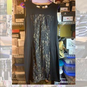 Black Stretch Lace Dress